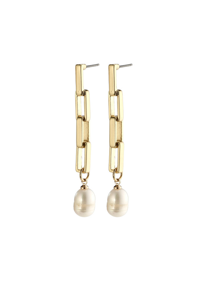 Earrings Colomba Gold Plated White - 272112003