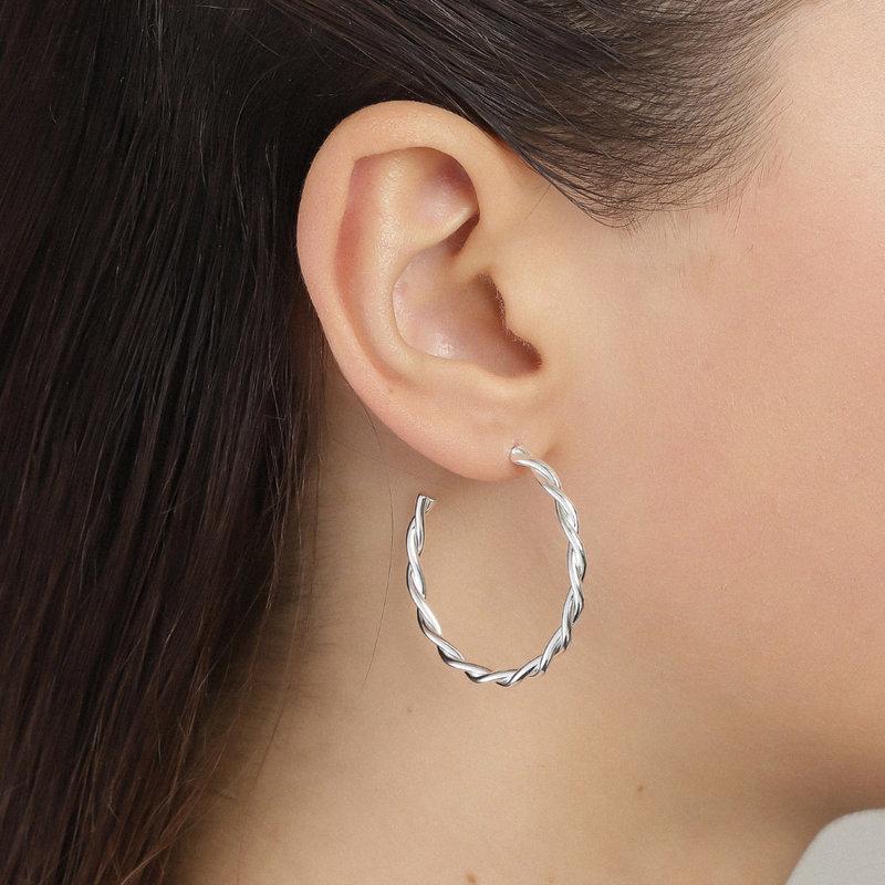 Pilgrim Earring Naja Silver Plated - 281946013
