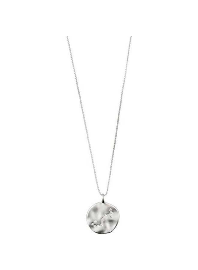 Zodiac Necklace Scorpio Silver Plated - Double Sided - 532036101