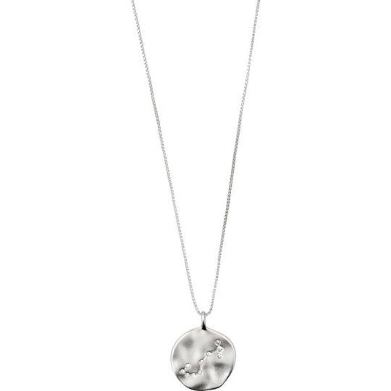 Pilgrim Zodiac Necklace Scorpio Silver Plated - Double Sided - 532036101