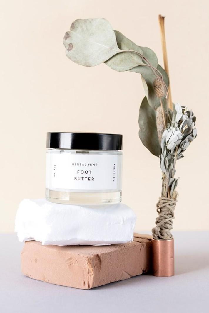 OM Organics Herbal Mint Foot Butter