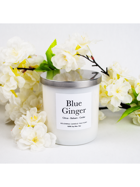 Kelowna Candle Blue Ginger Soy Candle 8oz