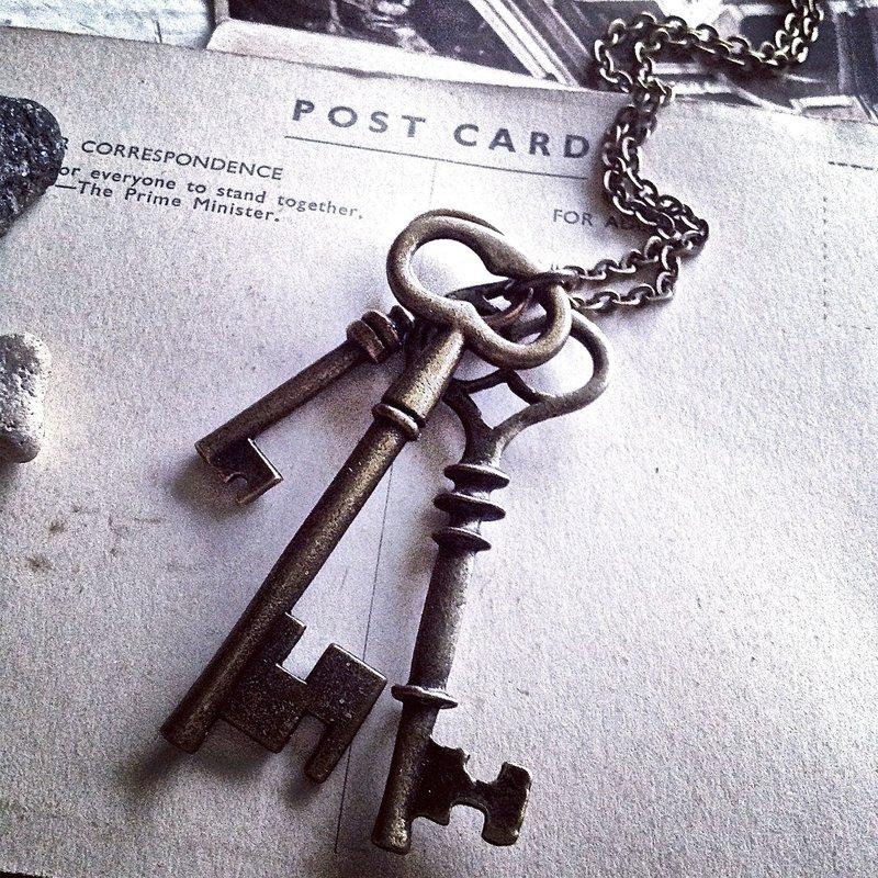 Pika & Bear Vintage Skeleton Keys-N14Keys