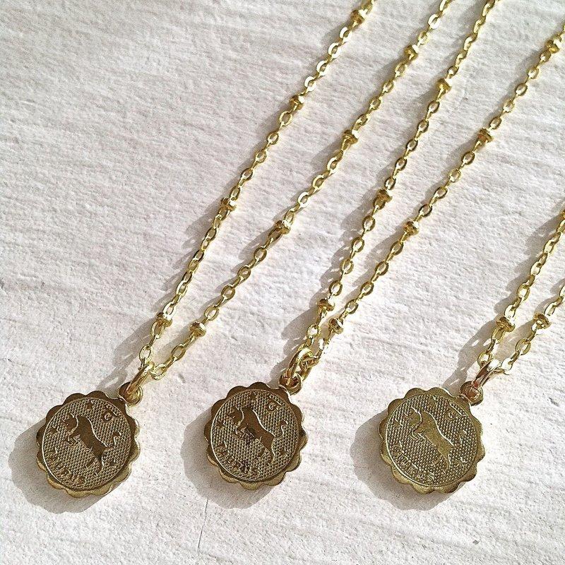 Pika & Bear Taurus Zodiac Necklace