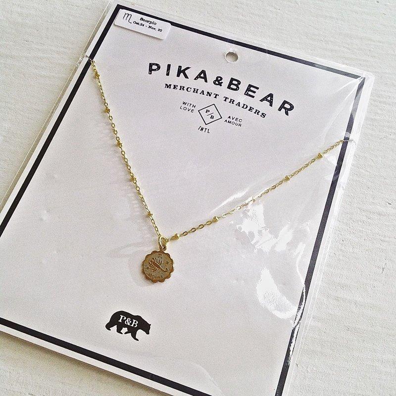 Pika & Bear Scorpio Zodiac Necklace