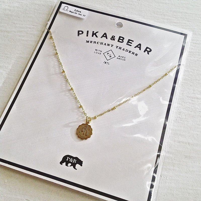 Pika & Bear Libra Zodiac Necklace