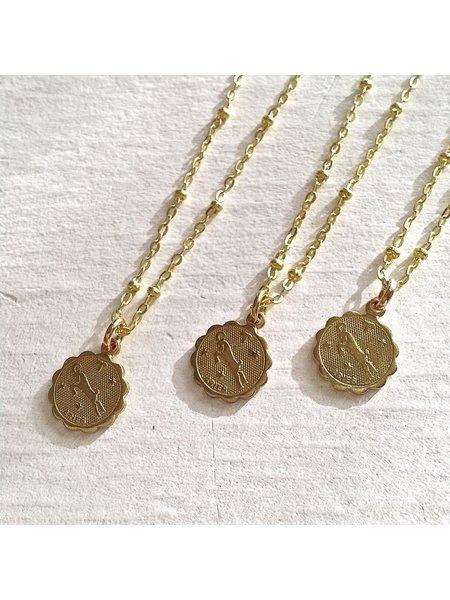 Pika & Bear Aries Zodiac Necklace