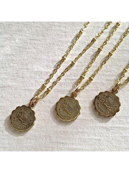 Pika & Bear Aquarius Zodiac Necklace