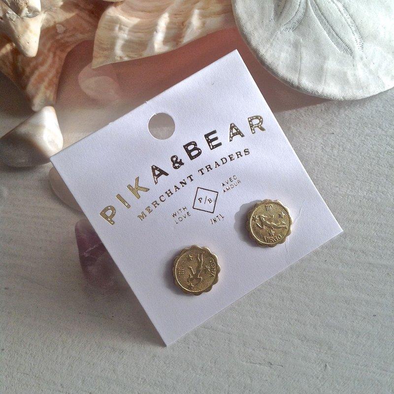 Pika & Bear Virgo Zodiac Studs