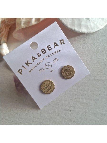 Pika & Bear Gemini Zodiac Studs