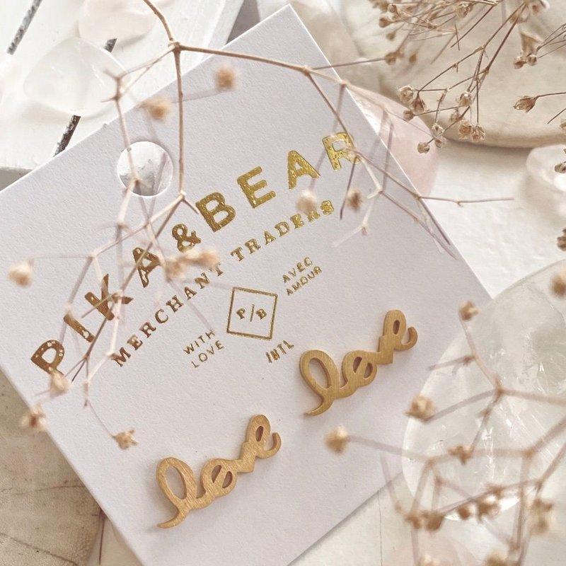 Pika & Bear Amor earrings