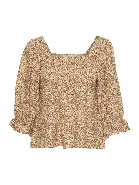 Cream CRBellis peplum blouse 10608653