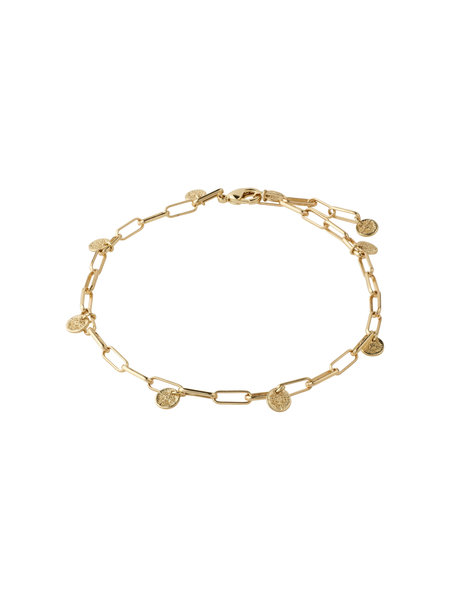 Pilgrim Ankle Chain River Gold Plated - 262122008