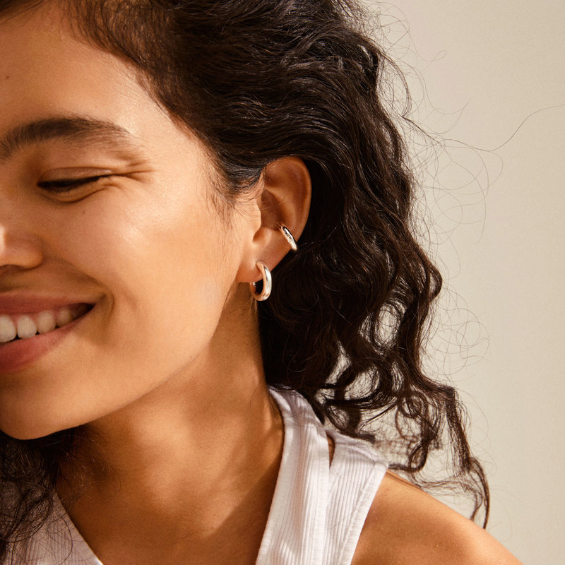 Pilgrim Earring Reconnect Silver Plated - 102136003