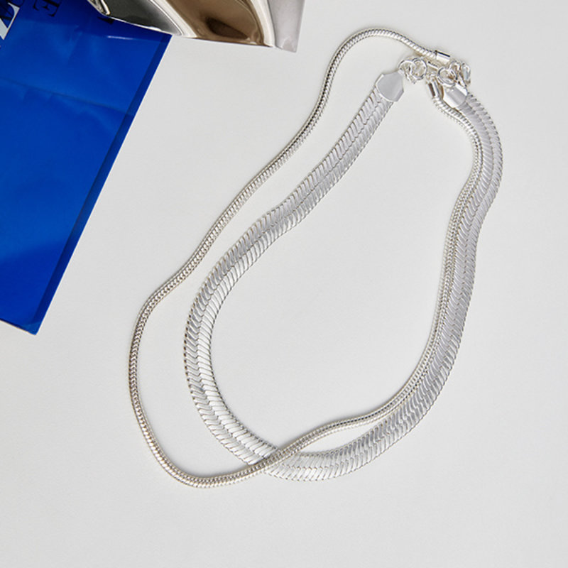 Pilgrim Necklace Reconnect Silver Plated - 102136011