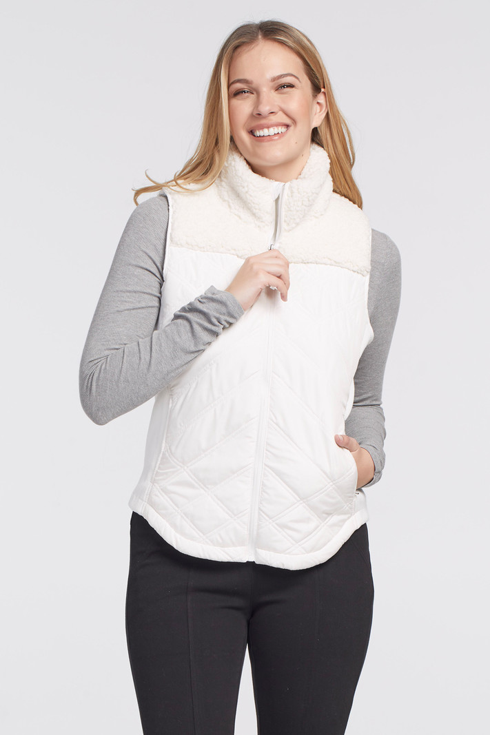 Tribal Zip Front Quilted Vest 4683O