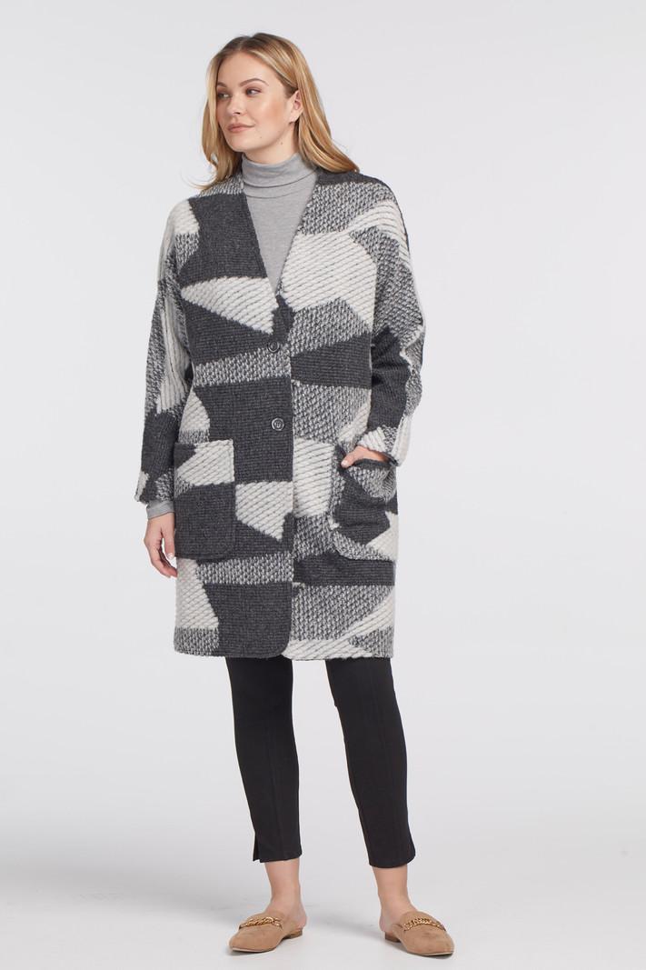 Tribal Long Dolman Sleeve Coat 4725O