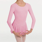 Body Wrappers Body Wrappers MT192 Long Sleeve Skirted Leotard