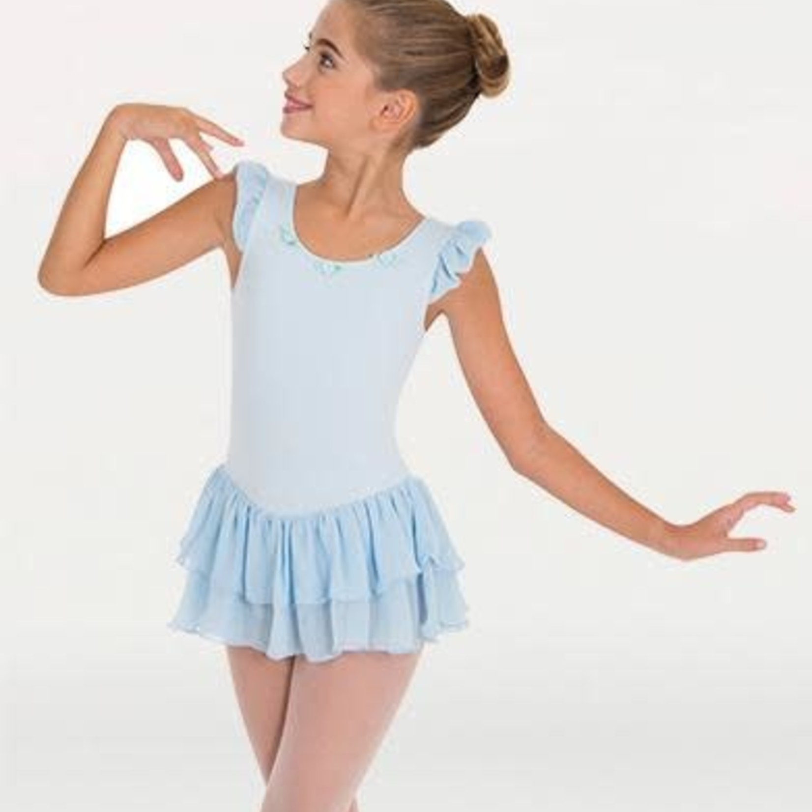 Body Wrappers Body Wrappers 2237 Flutter Sleeve Skirted Leotard