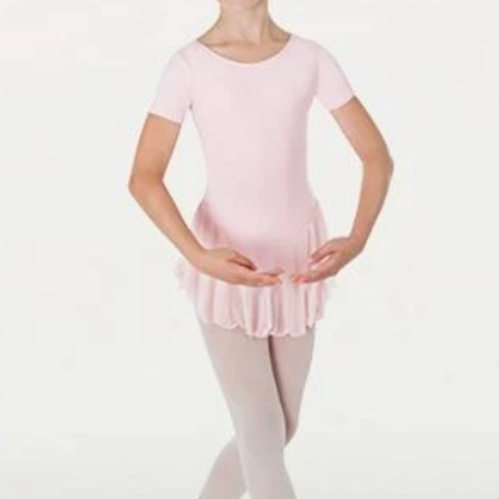 Body Wrappers Body Wrappers BWP191 Child Cap Sleeve Skirted Leotard