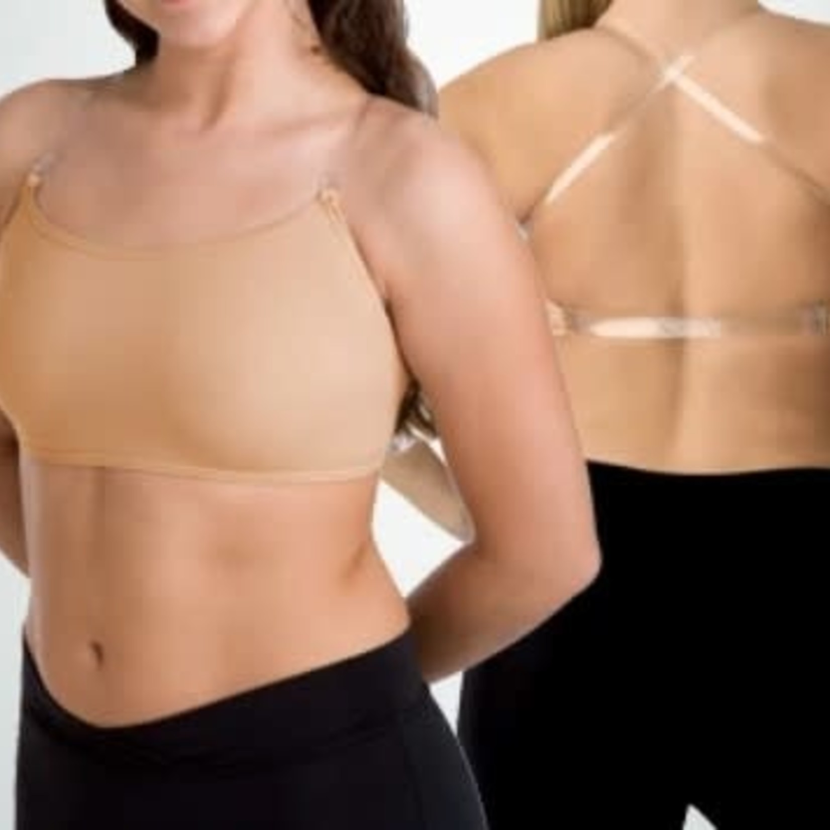 Body Wrappers Body Wrappers 0275 Child Clear Straps Bra