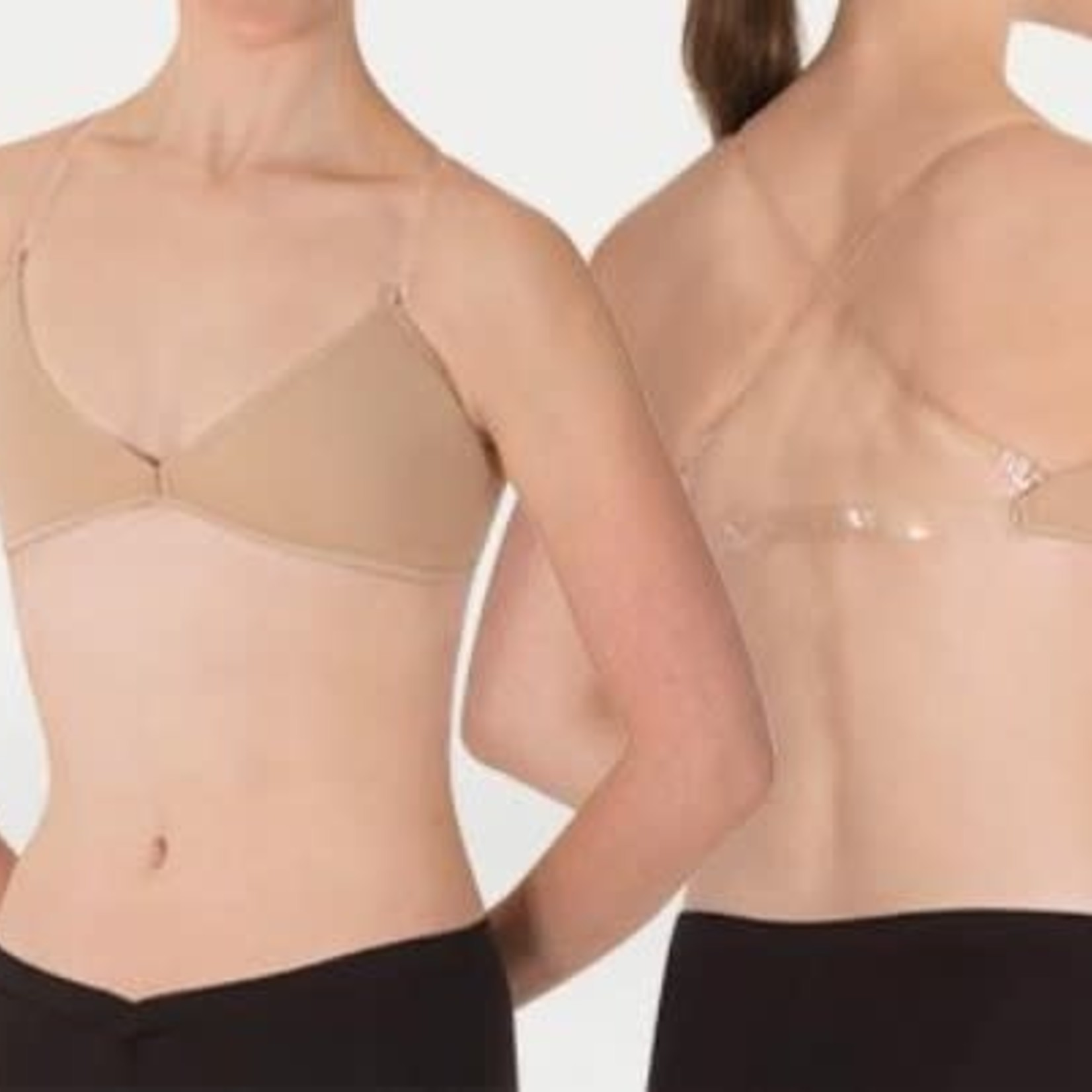 Body Wrappers Body Wrappers 283 Deep-V Clear Straps Bra