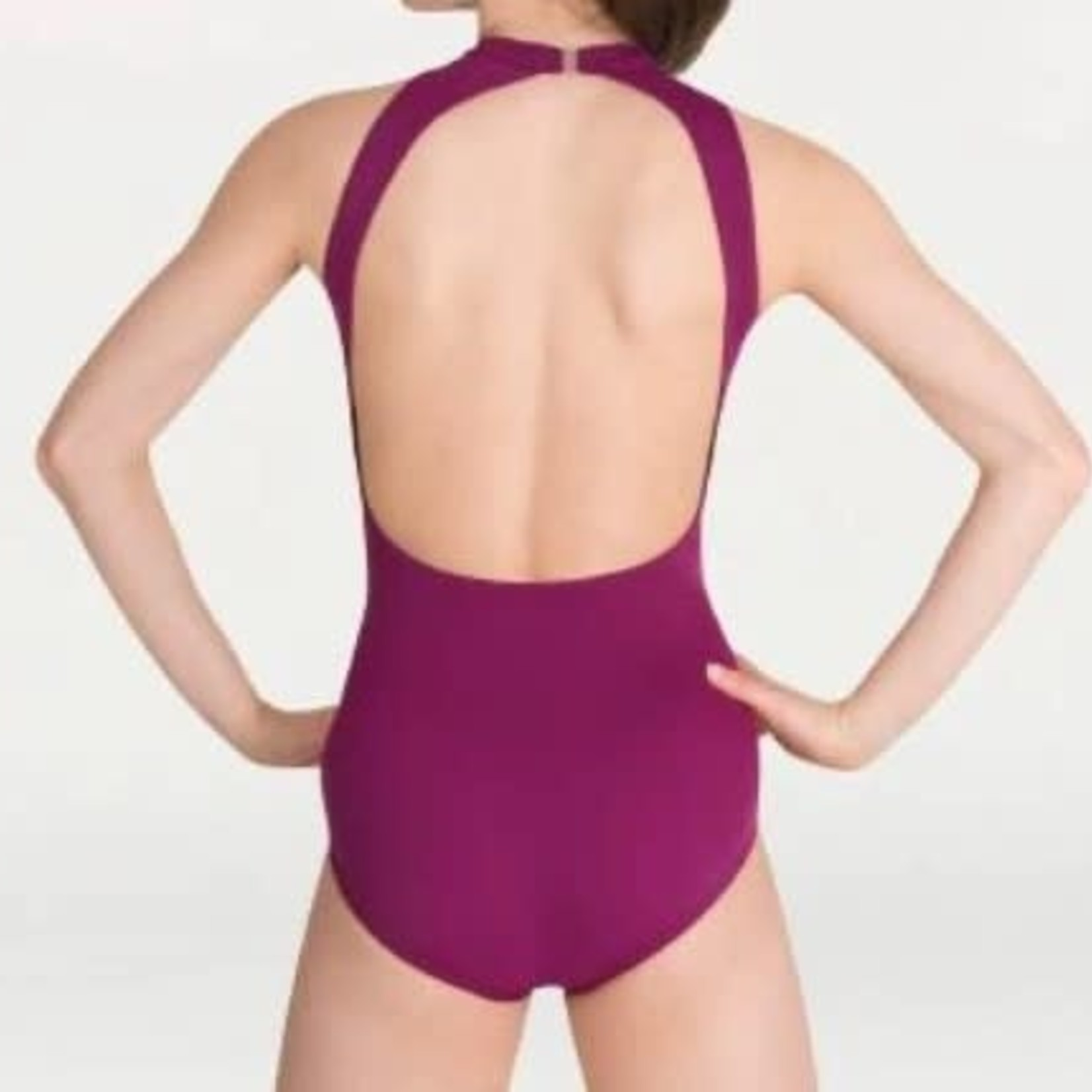 Body Wrappers Body Wrappers P1210 Mock-Neck Open Back Leotard