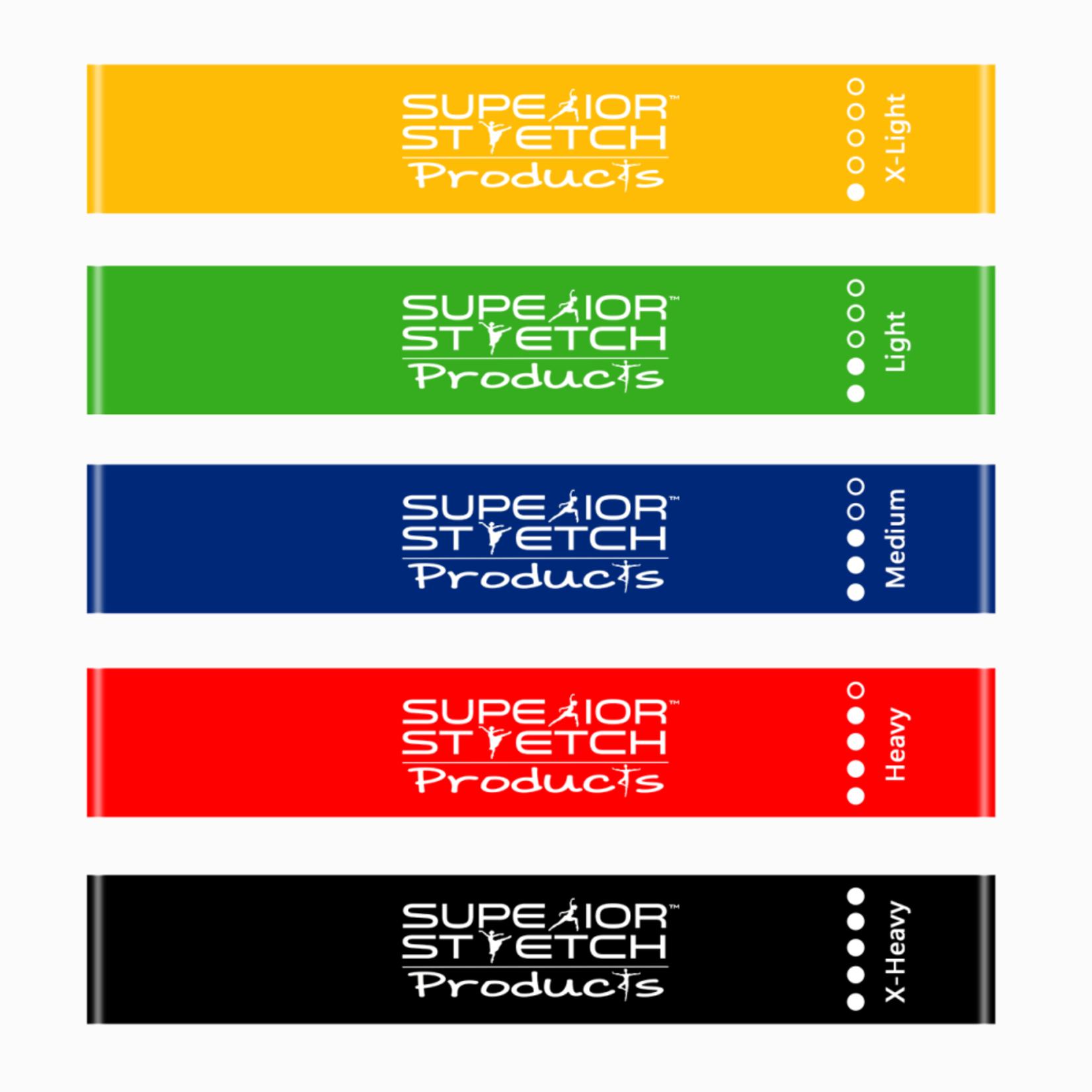 Superior Stretch Leg Bands - Set of 5 Short Resistance Loop Bands