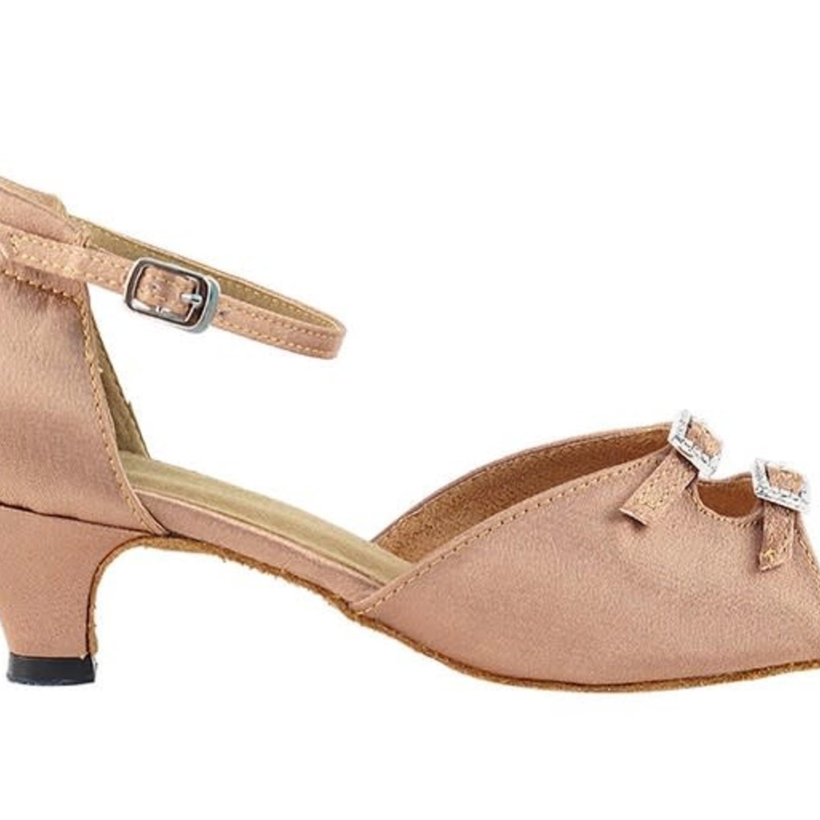 "Very Fine Very Fine 1620 1.3"" Brown Satin Ballroom Shoe"