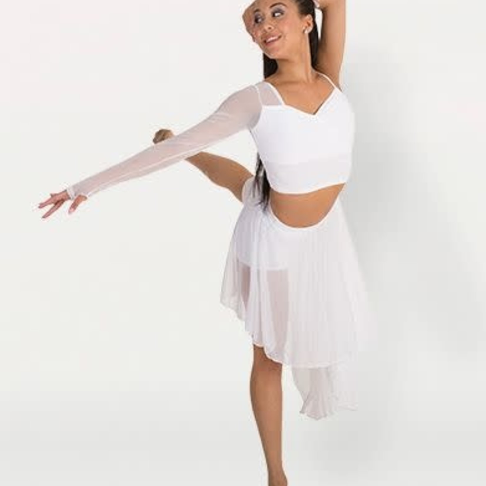 Body Wrappers Body Wrappers BWP9017 Asym Crop Top