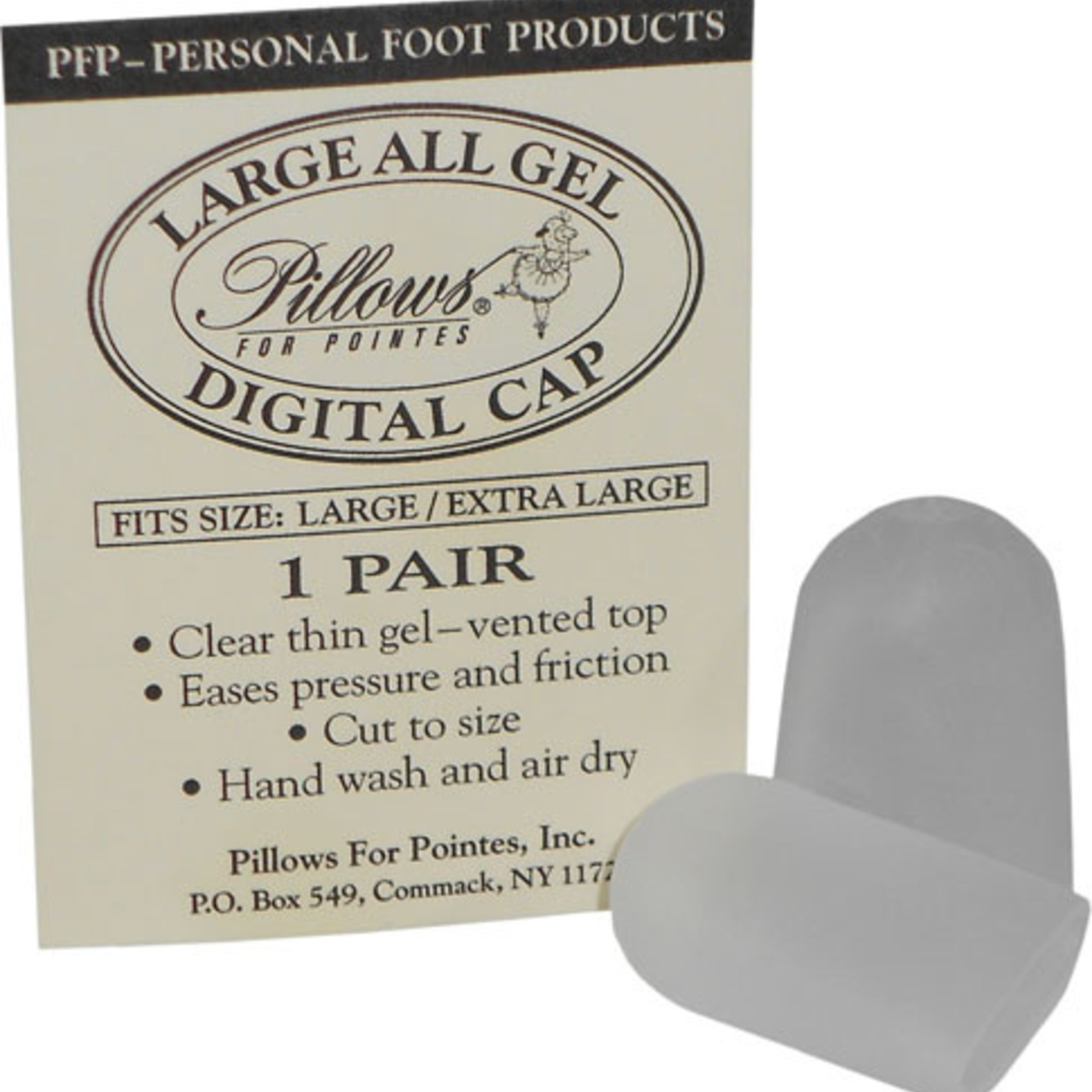 Pillows for Pointes Pillows for Pointes All Gel Digital Cap Large