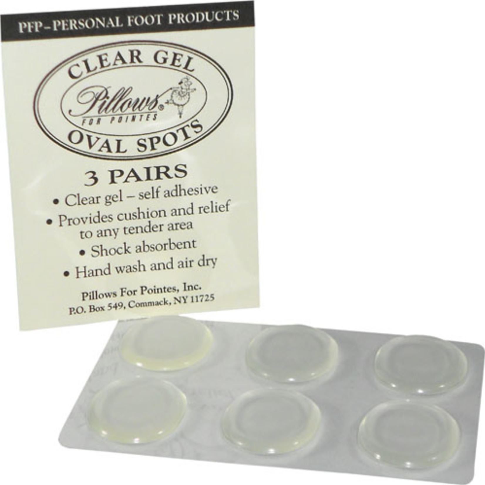 Pillows for Pointes Pillows for Pointes Clear Gel Oval Spots