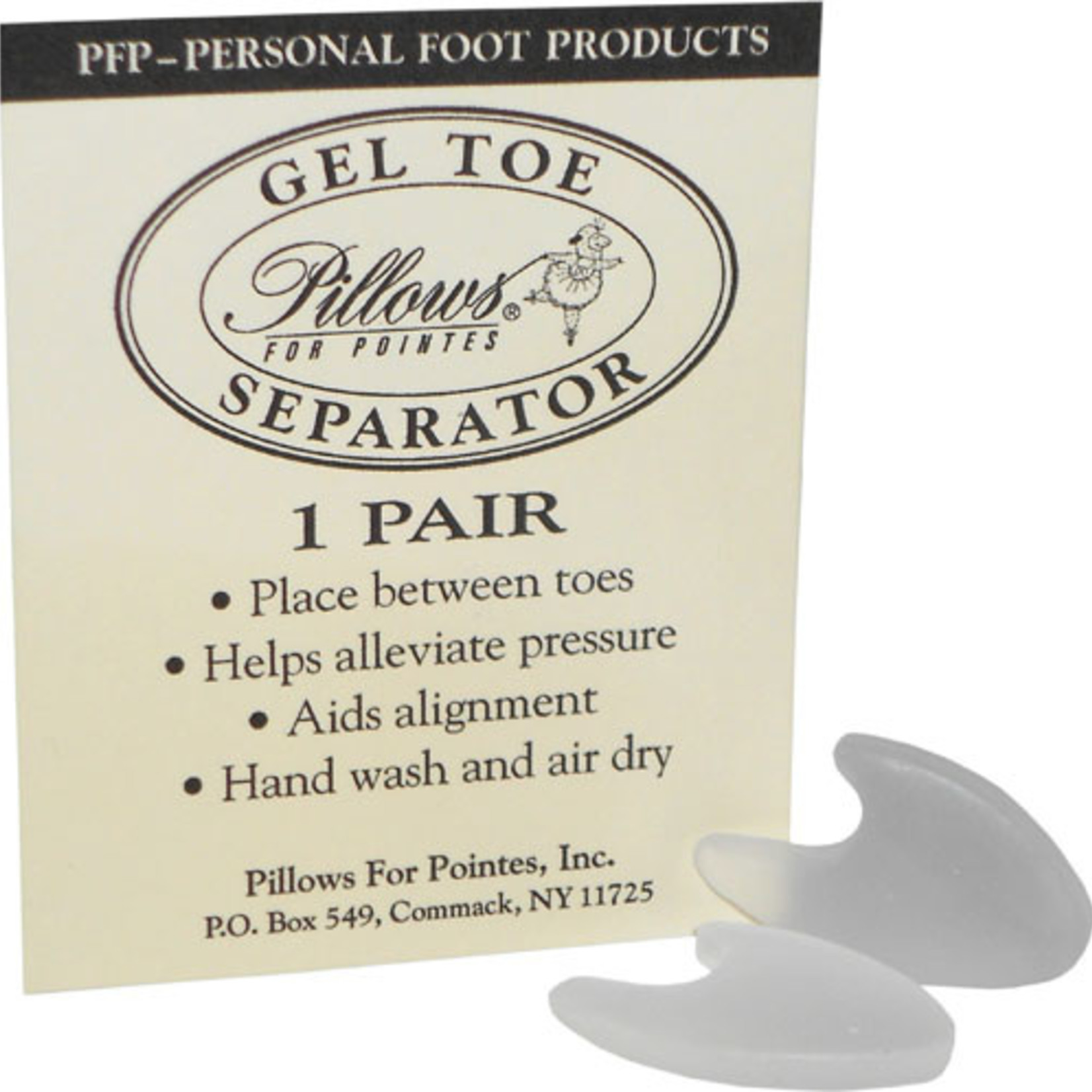 Pillows for Pointes Pillows for Pointes Gel Toe Separator