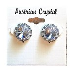 CJ Merchantile RA35 Australian Crystal Clear 15mm Post Earrings