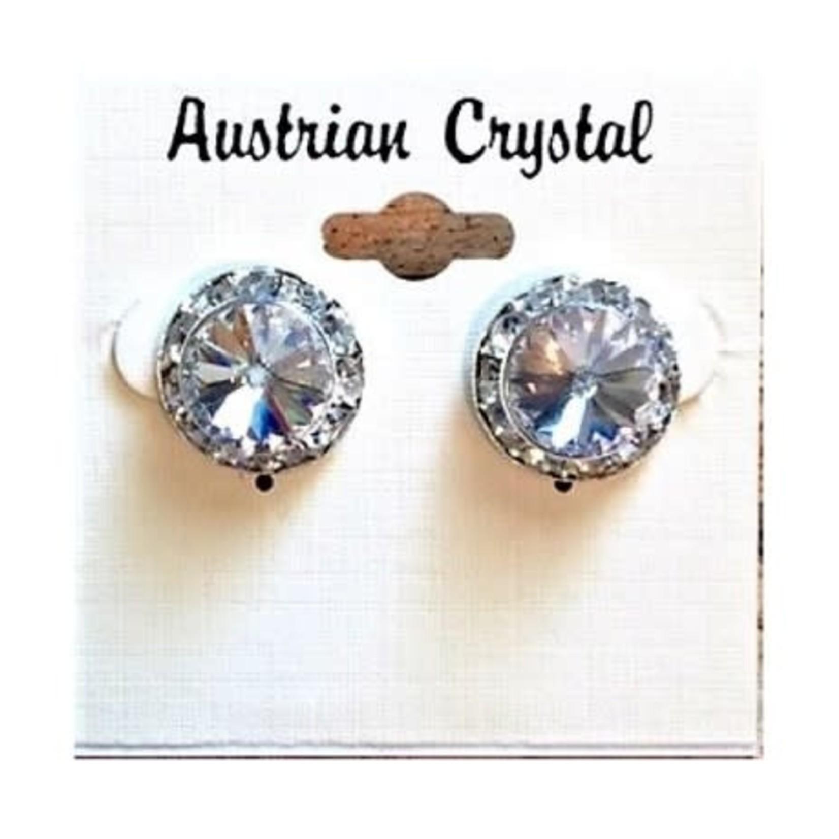 CJ Merchantile RA35 Australian Crystal Clear 15mm Post Earrings