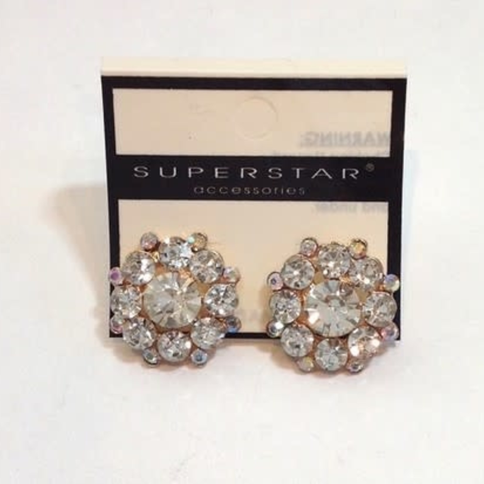 CJ Merchantile CJ Merchantile RA262 Superstar Crystal Cluster Earrings 22mm