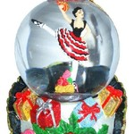 Nutcracker Ballet Gifts Mini Spanish Dancer Snow Globe