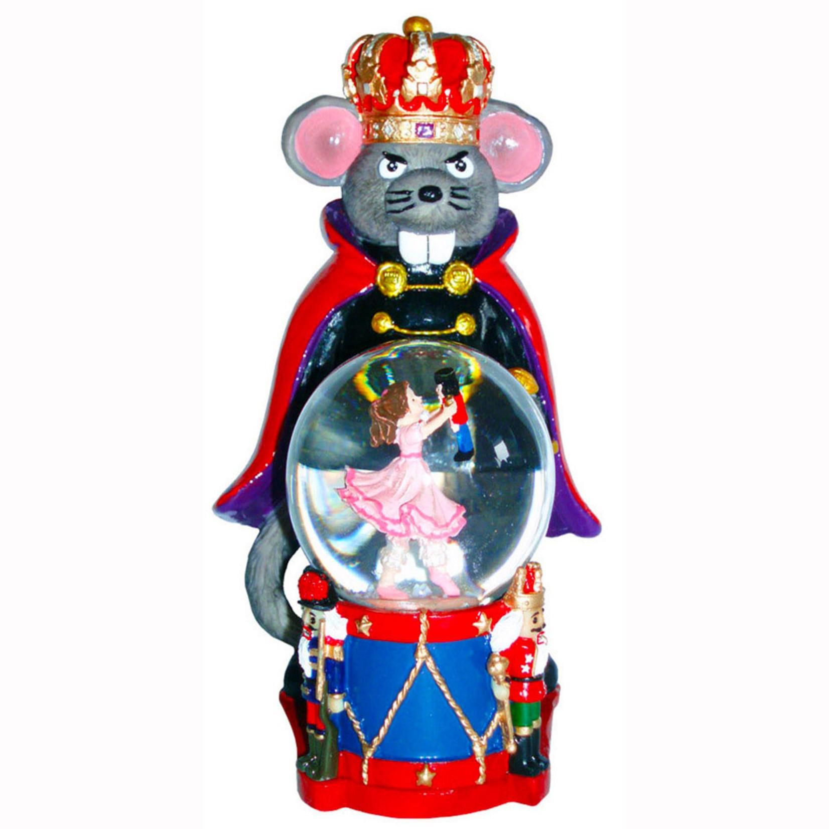 Nutcracker Ballet Gifts Mouse King Figurine With Clara Mini Snow Globe