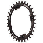 Blackspire Snaggletooth 104BCD Oval NW Chainring, 32T - Black