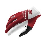 100% 100% Celium Glove Red/Gray