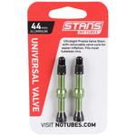Stan's Stan's Alloy Presta Valve Stem, 44mm Universal, Pair - Green