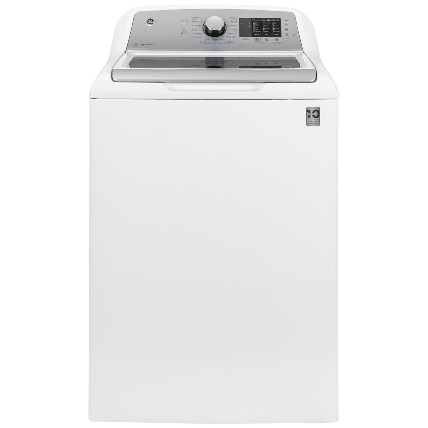 GE GE 4.8 CU. FT. CAPACITY WASHER WITH SANITIZE W/OXI AND FLEX DISPENSE