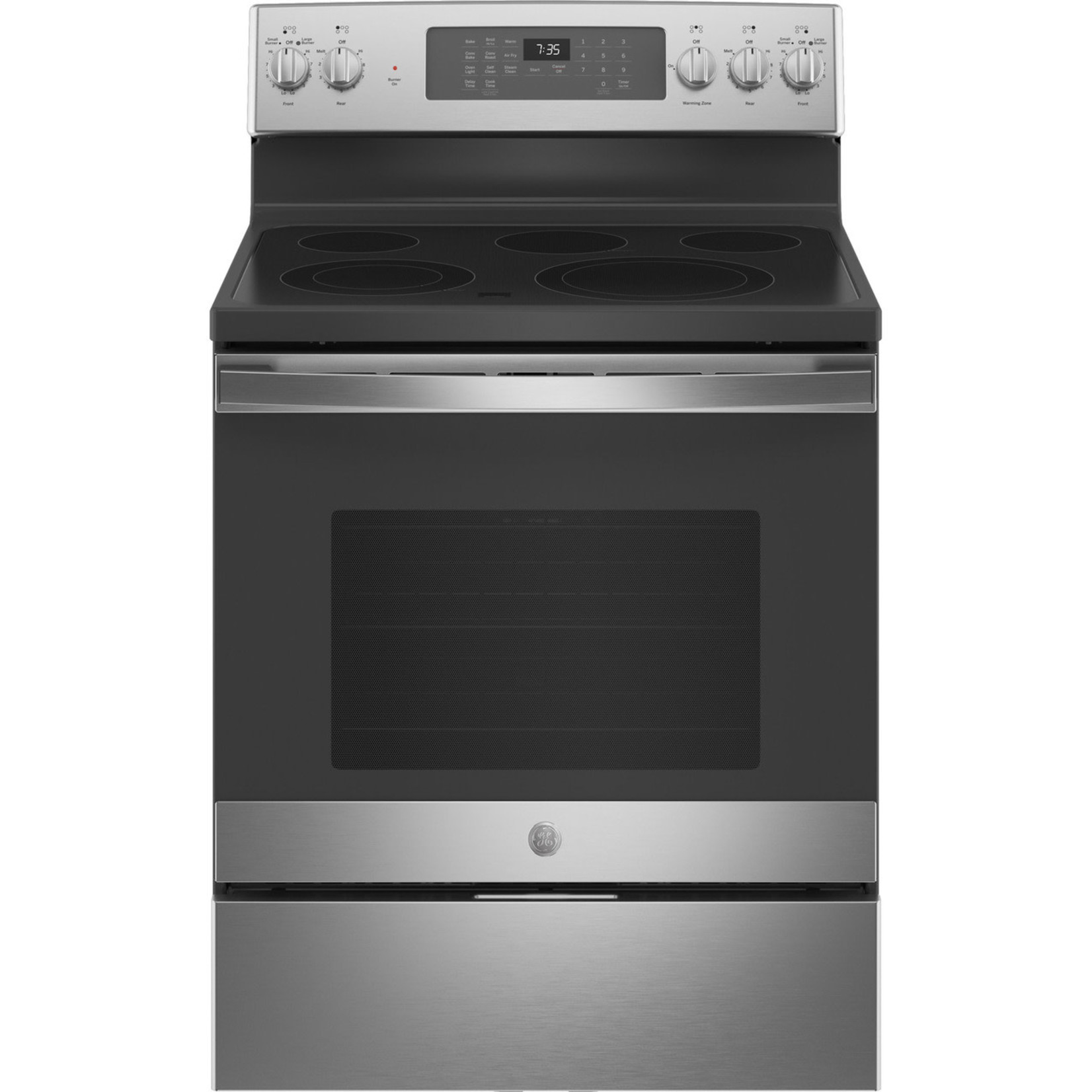 """GE GE® 30"""" Free-Standing Electric Convection Range with No Preheat Air Fry"""
