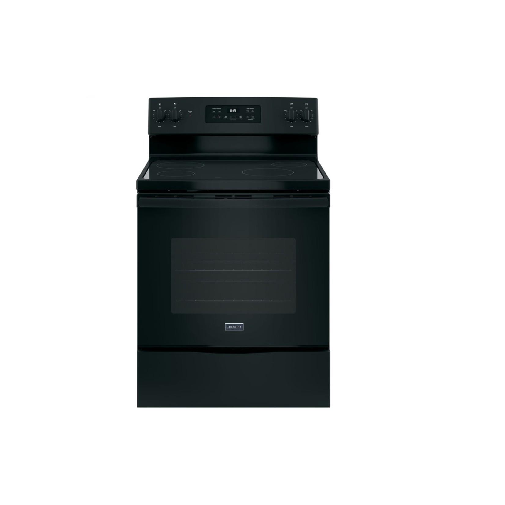 """Crosley Crosley 30"""" Black Flat Top Free-Standing Self-Clean Electric Range"""