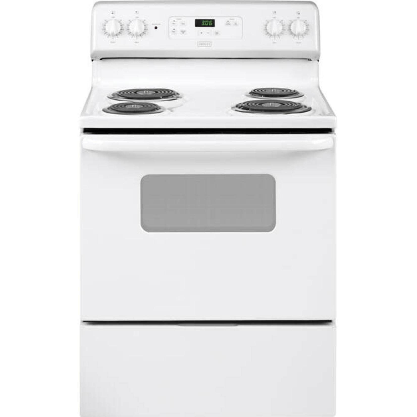 "Crosley Crosley 30"" White  Coil Top Free-Standing Self-Clean Electric Range"
