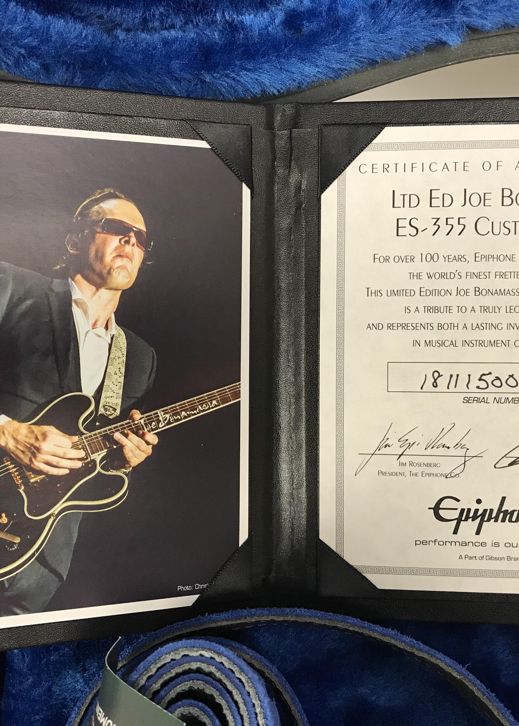 Epiphone Joe Bonamassa ES355S signed (con) MS
