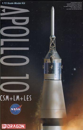 Plastic Kits DRAGON (k) 1/72 Scale - Apollo 10 CSM + LM + LES Plastic Model Kit