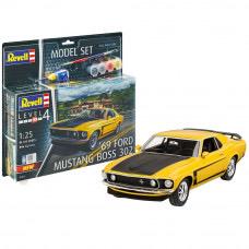 Plastic Kits REVELL (j) 1969 Boss 302 Mustang - 1/25 Scale - Starter Set