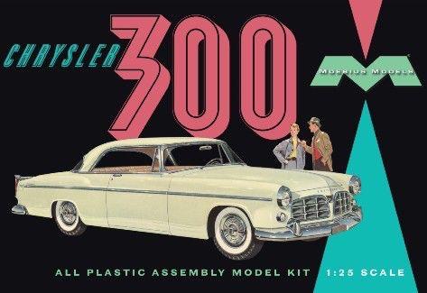 Plastic Kits MOEBIUS (m)  1/25 Scale - 1955 Chrysler C300E Plastic Model Kit