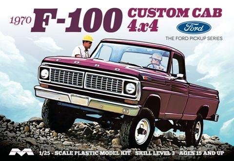 Plastic Kits MOEBIUS (m)  1/25 Scale - 1970 F-100 Ford Custom Cabtruck Plastic Model Kit